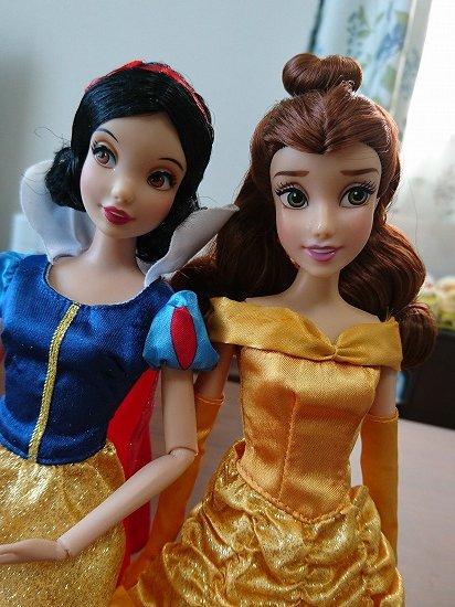 【クラシックドール】ディズニープリンセス 美女と野獣 ベルと白雪姫