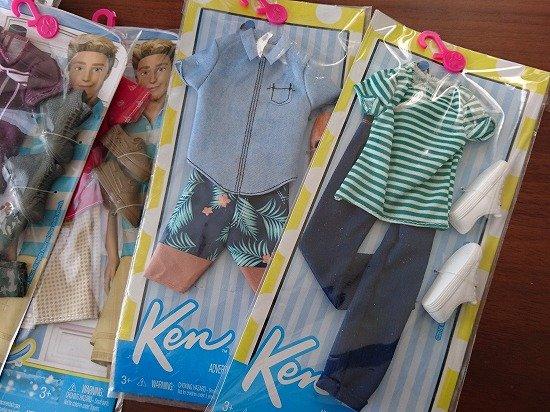 バービーKEN KENの服で着せ替えファッションショー