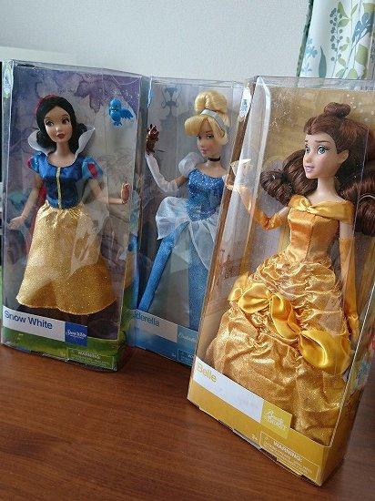 【クラシックドール】ディズニープリンセス 白雪姫・ベル・シンデレラ